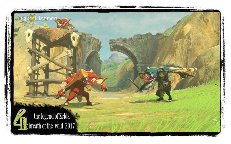 the legend of Zelda : breath of the wild 2017