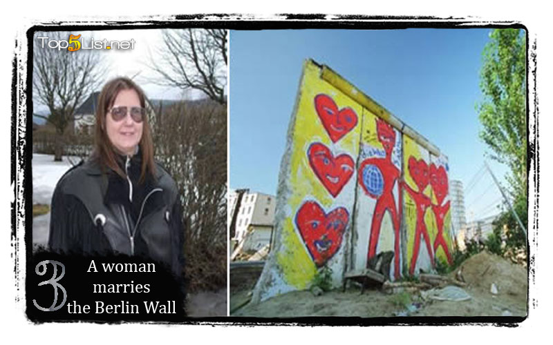 A woman marries the Berlin Wall