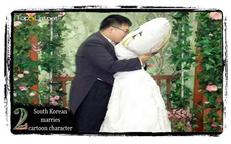 South Korean marries cartoon character