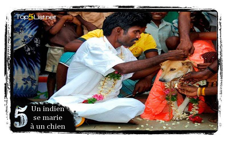 Un indien se marie à un chien