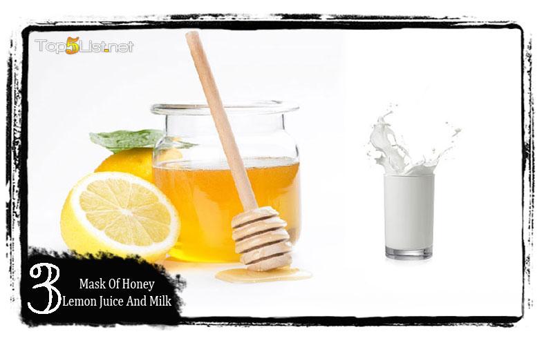 Mask of honey, lemon juice and milk