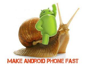 5 conseils surmontant la lenteur du smartphone et augmentant sa vitesse